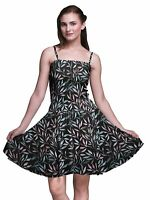 Bimba floral Vestido estampado de sol con tirantes finos en la parte-VfQ