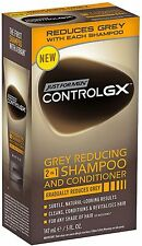 JUST FOR MEN Control GX Grey Reducing 2 in 1 Shampoo - Conditioner 5 oz (5 pack)