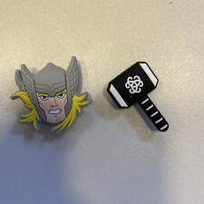 2 Schuhpins - Shoe Charms - Anstecker für Clogs Crogs Superhelden Thor