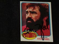 STEVE ZABEL 1976 TOPPS SIGNED AUTOGRAPHED CARD #188 NEW ENGLAND PATRIOTS