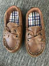 New Carter's Toddler Boy Brown Boat Shoes Size 5