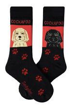 Cockapoo Crew Socks Unisex Red