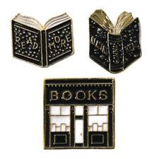 Book Lover Enamel Pins Set Lot Love Reading Reader Book Club Gift