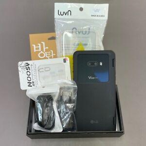 LG V50S ThinQ 5G Black Dual Screen LM-V510N 256GB Unlocked Very Good Condition