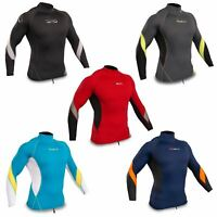 Gul Xola Mens Long Sleeve Rashguard Rash Vest UV50+ Wetsuit Top Surf Swim Dive