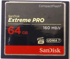 SanDisk Extreme PRO 64GB Compact Flash Memory Card UDMA 7 Speed Up To 160MB/s