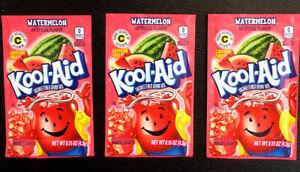 Qty: 3 x Kool Aid Watermelon Unsweetened Drink Mix