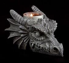 Drachenkerzenhalter - Drachenkopf - Dragon Gothic Dekoration Tischdeko Fantasy