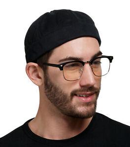 Brimless Docker Cap Hats with Adjustable Strap   Retro No Visor Cap