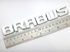 "CHROME LOGO "" BRABUS "" MERCEDES BENZ SIGN EMBLEM EMBLEMS DECAL CAR PARTS C E CLS"