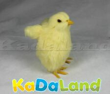 1pc Easter Baby Yellow Chick Stand w/ Wings Furry Animal Plush Adorable Chicken