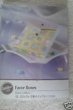 Wilton Baby shower Party Rectangle Favor Boxes 12 count New