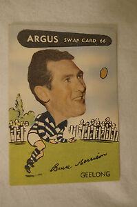 Geelong - 1954 - Vintage - Argus - VFL Football Caricature Card - Bruce Morrison