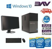 FAST DELL i5 QUAD CORE PC COMPUTER TOWER WINDOWS 10 WIFI 16GB RAM 1TB HDD