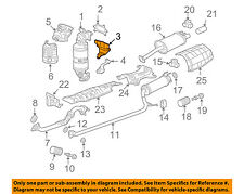HONDA OEM 06-11 Civic 1.8L-L4 Exhaust Manifold-Mounting Bracket 18197RNAA00