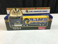 1994 Matchbox Los Angeles Rams Team NFL Semi Truck Trailer NOS