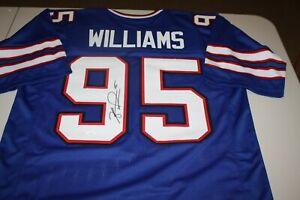 BUFFALO BILLS KYLE WILLIAMS #95 SIGNED HOME BLUE CUSTOM JERSEY JSA WITNESS