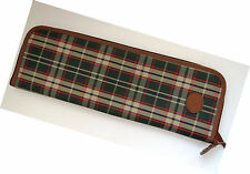 Mens Plaid Necktie Travel Case Zipper Tie Holder Storage Case Scarf Travel Case