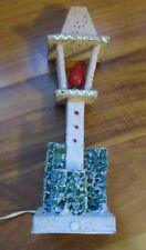 "1960's Sugar Glitter Cardboard Electric 11"" Lamp Post Lantern Japan"