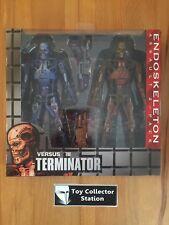 Terminator Endoskeleton Set Neca Filme & Dvds Terminator Figur Doppelpack Robocop Vs