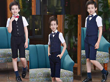 Boys Waistcoat Suit Wedding Suits Page Boy short Suits Baby Formal Party Suits