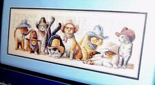 Dimensions Creative Accents Cowboy Cats Counted Cross Stitch Kit