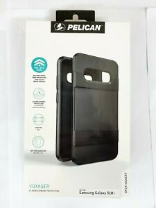 """Pelican Voyager Rugged Case W/ Clip for Samsung Galaxy S10+ S10 PLUS 6.4"""" Black"""