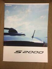 Honda S2000,JDM, typeV Japanese color Sales Brochure GH-AP1 F20C Mugen Spoon