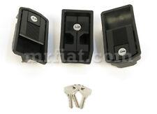 Fiat X1/9 Black Side Door Handle Set 3 Pcs New