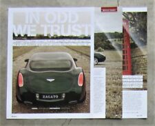 ZAGATO BENTLEY CONTINENTAL GT Sports Car Auto Magazine Page Article Test Review