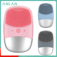 Silicone Facial Cleansing Brush ANLAN Ultrasonic Electric-Rechargeable-Portable