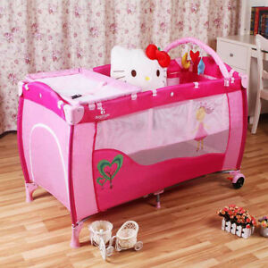 New ALL-IN-ONE BABY TRAVEL COT/ PLAYPEN/ PLAYYARD/ STORAGE/ CHANGING STATION