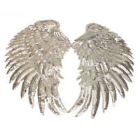 Sequins Angle Wings Feather Iron on Patch Fabric Clothes Applique DIY