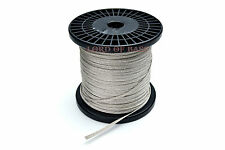"""5ft Flat Braided Speaker Tinsel Lead Wire 0.17"""" ( 4.3mm) wide"""