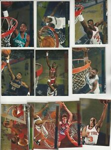 90'S INSERTS LOT (10/15) 1993-94 UPPER DECK SE BEHIND THE GLASS WEBBER RC 1:30