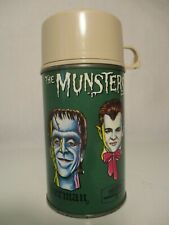 """VINTAGE METAL LUNCH BOX THERMOS 1965 """"THE MUNSTERS"""""""