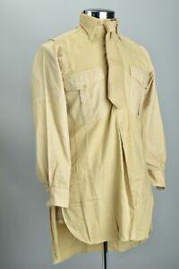 British Army Officers' WW2 Coles of London SD Uniform Wool Shirt w/ Tie. BTQ