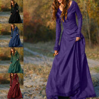Dress Cosplay Costume Women Vintage Medieval Long Gown Renaissance Victorian