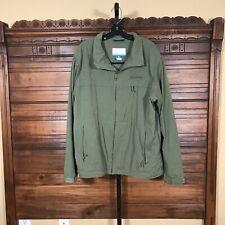 Columbia Sportswear Lightweight Zip Windbreaker Omni-Shield Cotton Green Men's L