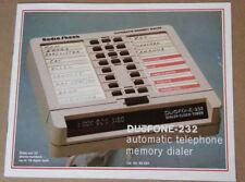 Vintage Telephone Phone Answering Machine System Duofone instruction manual