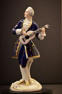 Royal Dux Bohemia Porcelain Figurine Czechoslovakia Pink Triangle label