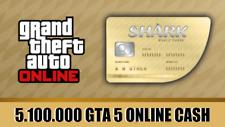 PlayStation 4 (PS4) GRAND THEFT AUTO ONLINE (GTA 5) MONEY SHARK CARD (5,100,000)