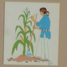 Silk Screen Print by Zuni Pueblo New Mexico Artist KAI SA