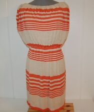 SUZI CHIN FOR MAGGY BOUTIQUE DRESS Size 2 Stripe Blouson Lined Knit Made In USA