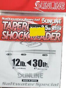 Sunline Saltwater Fly Leader Taper Shock Leader 3.5m 12lb Tippet NEW