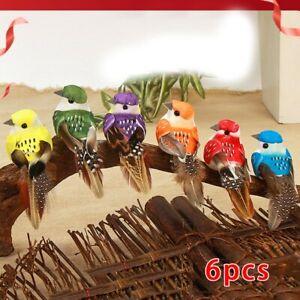 6pcs Small Simulation Birds Artificial Foam Feather DIY Craft Wedding Home Decor