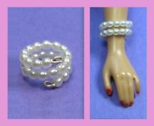 Barbie Dreamz WHITE PEARL SNAKE BRACELET Vintage REPRO Doll Jewelry