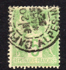 France 5 Cent Stamp c1876-85 Used (N under B) (3922)