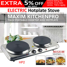 Portable Electric Stove Hot Plate Cooker Dorm RV Travel Cooktop Countertop Cook
