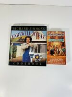 Richard Simmons Farewell to Fat Cookbook Hardcover + Sweatin To The Oldies VHS